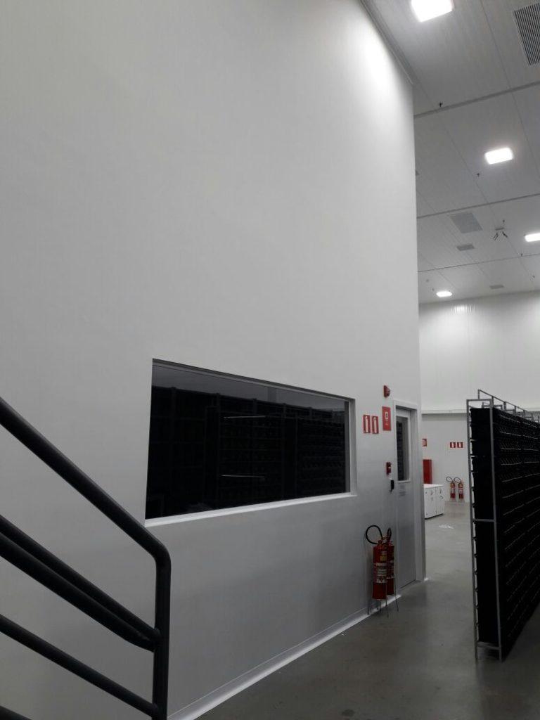 parede drywall de gesso com dupla estrutura