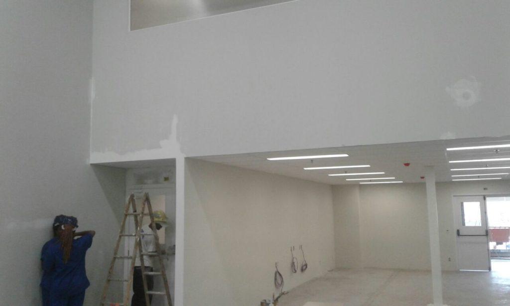 drywall de gesso pintado